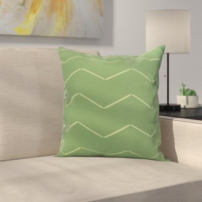 Meehan Stripe Geometric Print Indoor/Outdoor Throw Pillow Color: Green, Size: 20 x 20