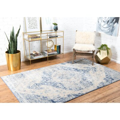 Parodi Blue Area Rug Rug Size: Rectangle 8 x 10