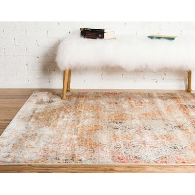 Parodi Yellow/Orange Area Rug Rug Size: Runner 22 x 6.0