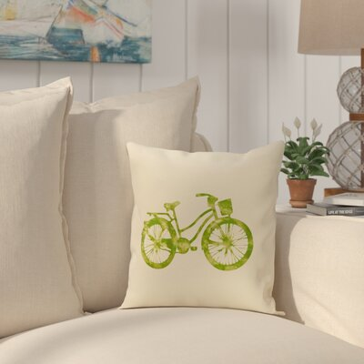 Golden Beach Life Cycle Geometric Throw Pillow Size: 18 H x 18 W, Color: Light Green