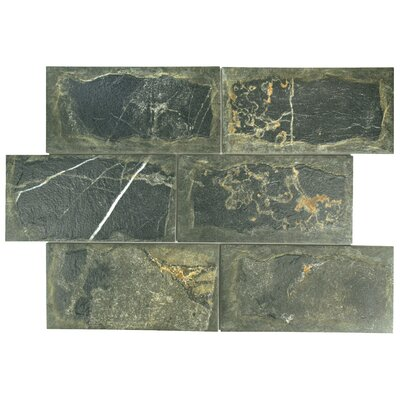 Superiore 6 x 12.13 Porcelain Field Tile in Black