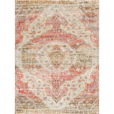 Parodi Pink/Yellow Area Rug Rug Size: Rectangle 4 x 6