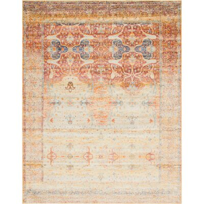 Parodi Yellow/Orange Area Rug Rug Size: Rectangle 4 x 6