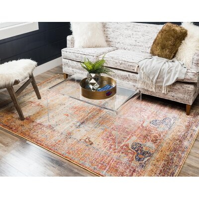 Parodi Yellow/Orange Area Rug Rug Size: Runner 22 x 6