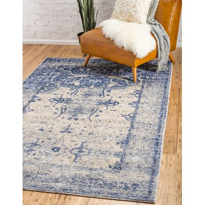 Parodi Navy Blue Area Rug Rug Size: Rectangle 4 x 6