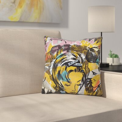 Surprise B Throw Pillow