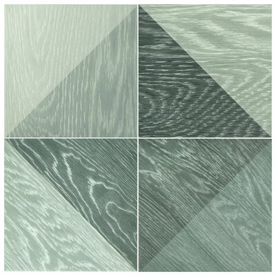 Bon Melange 6.5 x 6.5 Porcelain Field Tile in Black