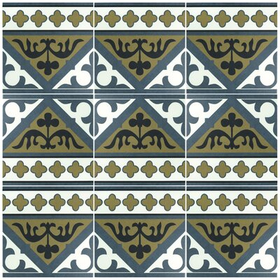 Seni Orleans Cenefa 9.75 x 9.75  Porcelain Field Tile in Blue