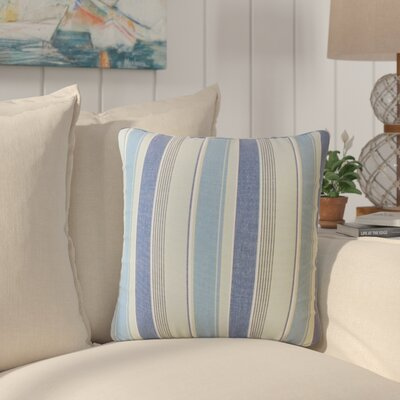 Elliot Striped Cotton Throw Pillow Color: Marine