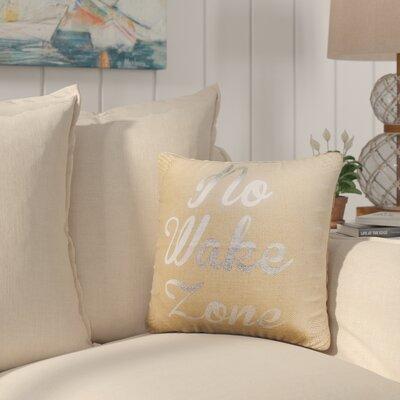 Colbert Burlap Throw Pillow Color: Silver