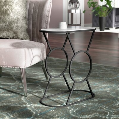 Sherise End Table Color: Black