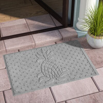 Anitra Diamond Pineapple Doormat Color: Medium Gray