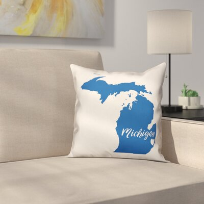Michigan Pride Throw Pillow