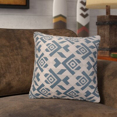 Levey Throw Pillow Size: 16 x 16, Color: Tan, Blue Gray