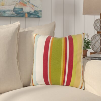 Lyra Outdoor Pillow Cover Size: 22 H x 22 W x 4 D, Color: Cherry
