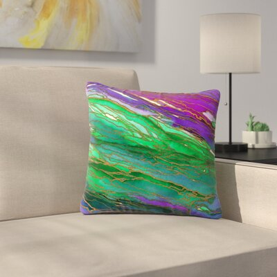 Agate Magic Throw Pillow Size: 20 H x 20 W x 7 D, Color: Lime Purple