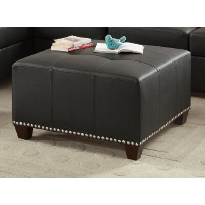 Follett Cocktail Ottoman Upholstery: Black