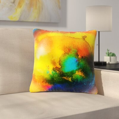 Mimulux Patricia No Good Vibrations Abstract Outdoor Throw Pillow Size: 16 H x 16 W x 5 D