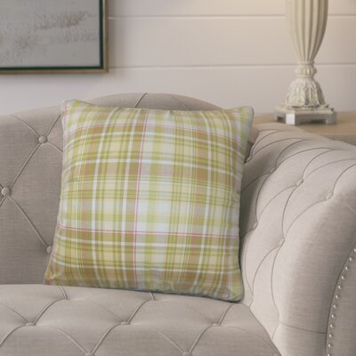 Poplin Plaid Cotton Throw Pillow