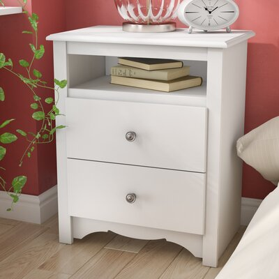 Hayman Drawer Nightstand Color: White