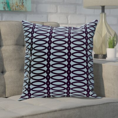 Giancarlo Geometric Decorative Outdoor Pillow Color: Spring Navy Carolina, Size: 18 H x 18 W x 1 D