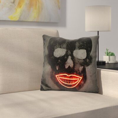 Skull Neons Throw Pillow
