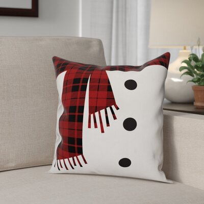 Snowman Scarf and Buttons Throw Pillow Type: Pillow Cover
