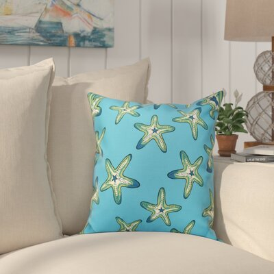 Cedarville Soft Starfish Geometric Print Outdoor Throw Pillow Size: 18 H x 18 W, Color: Turquoise/Green