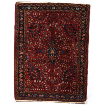 Persian Genuine Sarouk Hand-Knotted Wool Rust Area Rug