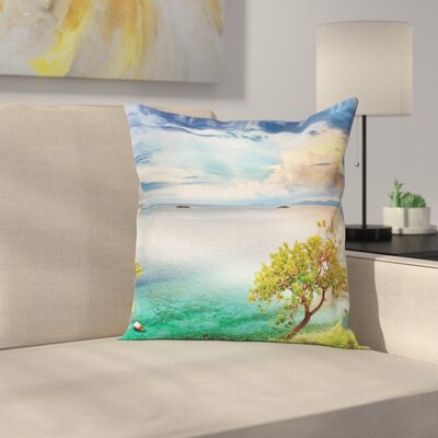 Seascape Pillow Cover Size: 24 x 24