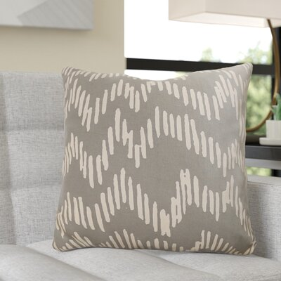 Ochoa 100% Cotton Throw Pillow Size: 22 H x 22 W x 4 D, Color: Slate / Beige