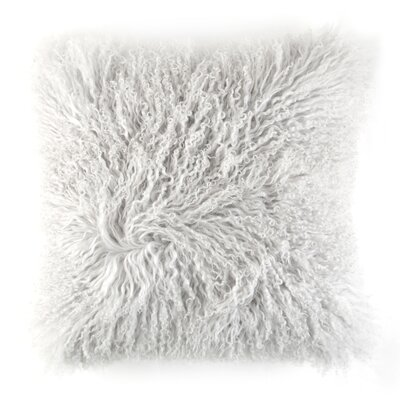 Ewalt Decorative Lambs Wool Throw Pillow Color: Gray