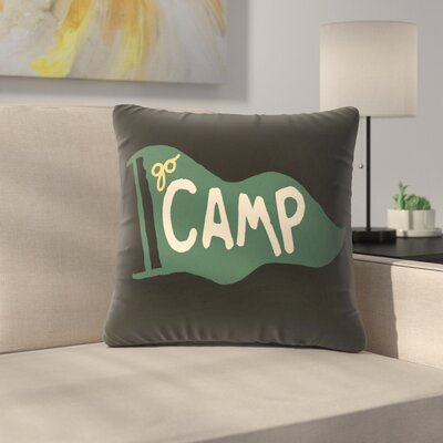 Go Camp Throw Pillow Size: 14 x 14