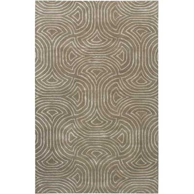 Helton Hand-Tufted Dark Khaki Area Rug