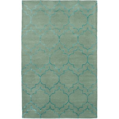 Helsley Hand-Tufted Light Green Area Rug