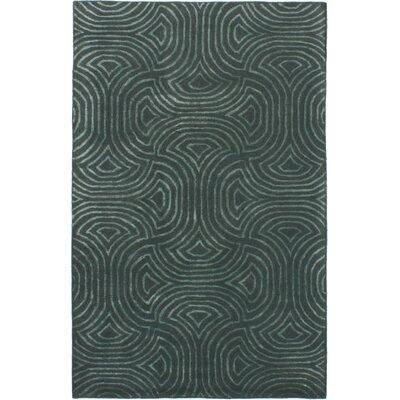Helton Hand-Tufted Dark Green Area Rug