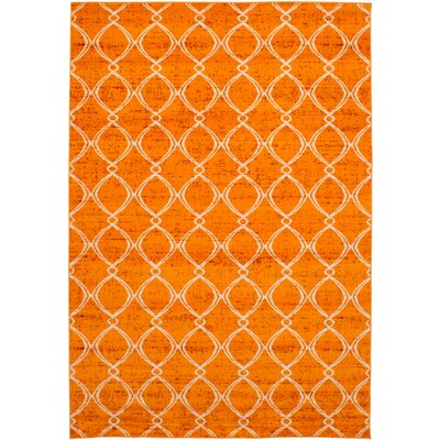 Maclean Orange Area Rug