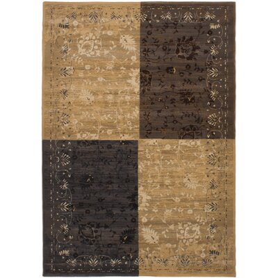 Cano Dark Brown/Tan Area Rug