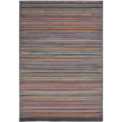 Maclean Dark Gray/Red Area Rug