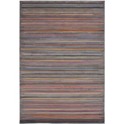 Maclean Dark Gray/Red Area Rug