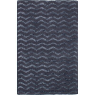 Helton Hand-Tufted Dark Navy Area Rug