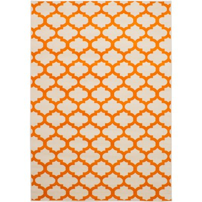Helvey Cream/Orange Area Rug