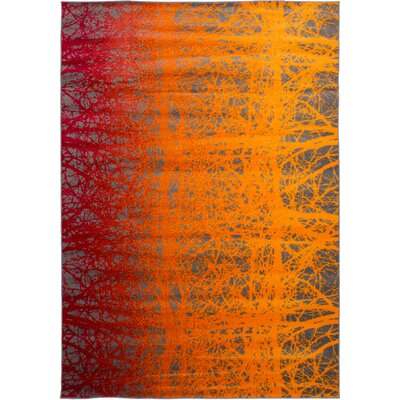 Maclean Orange/Red Area Rug