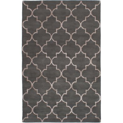 Helsley Hand-Tufted Dark Gray Area Rug