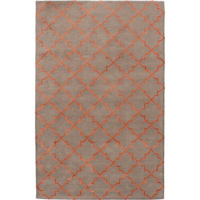 Helsley Hand-Tufted Tan Area Rug