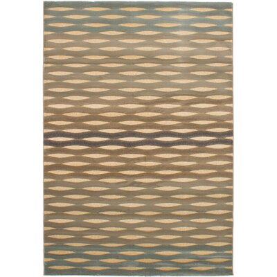 Roundtree Power Loom Beige/Light Blue Area Rug