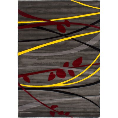 Maclean Machine Woven Dark Gray Area Rug