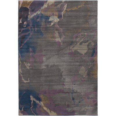 Douthit Power Loom Dark Gray Area Rug