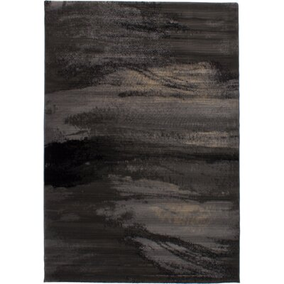 Grondin Power Loom Dark Gray Area Rug