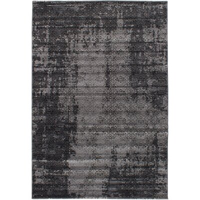 Grogg Machine Woven Gray Area Rug